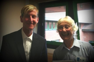 Barry Blake, Minutes Secretary and Veronica Tippetts a founder member of Friends of RSH Hospital Chapel [image Ann MacGillivray]