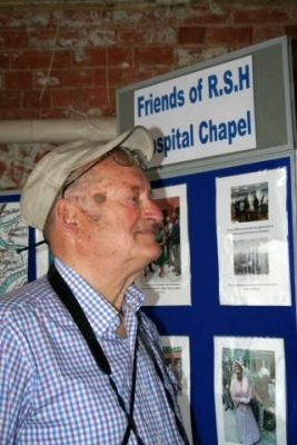 Arthur Jeffery a founder member of Friends of RSH Hospital Chapel [image Ann MacGillivray]