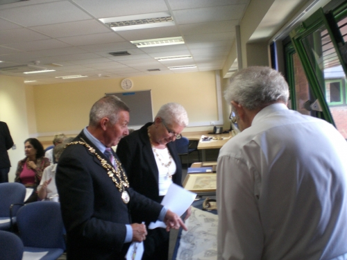 The Mayor of Southampton Councillor Deryck Burke on a visit to the Friends' AGM