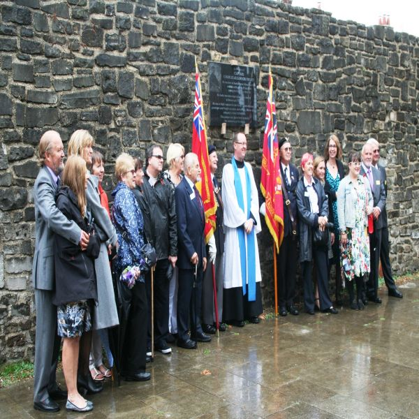 Fryatt family at the dedication service to the Southampton Fryatt Plaque 3 Sept 2017 image  Ann MacGillivray
