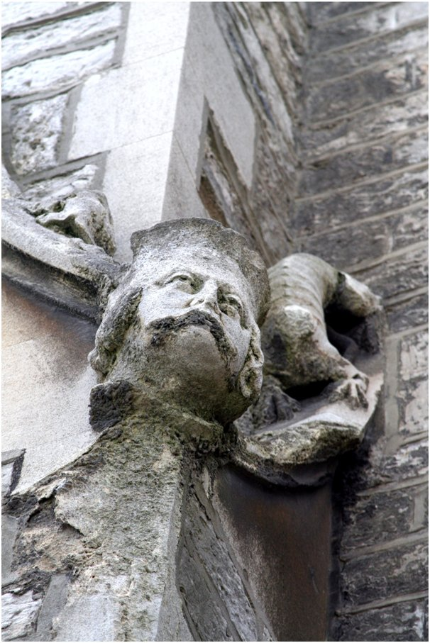 A stone carving on the RSH Hospital Chapel.